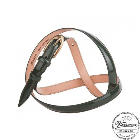 Кожаный ремень DX56-15 (оливковый)