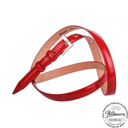 Кожаный ремень DX59-15 (красный)