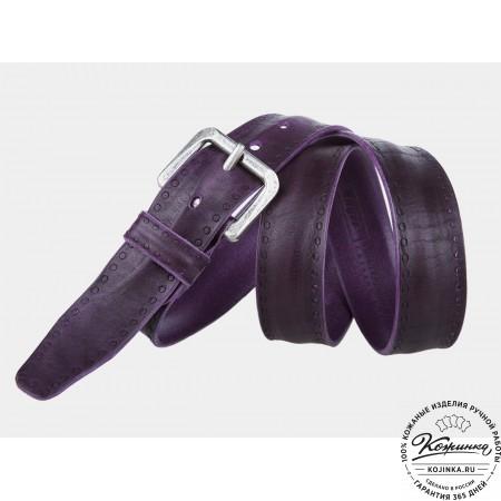 Кожаный ремень B40-461 (фиолетовый)