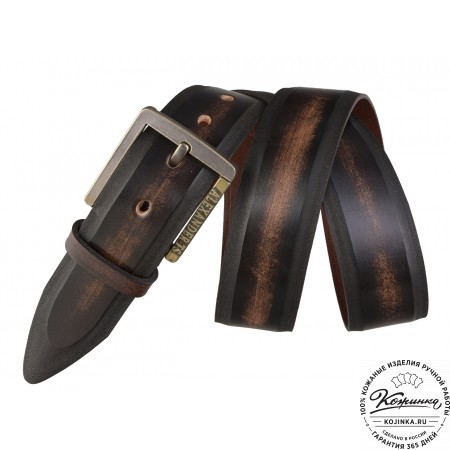 Кожаный ремень AT40-100 (коричневый)