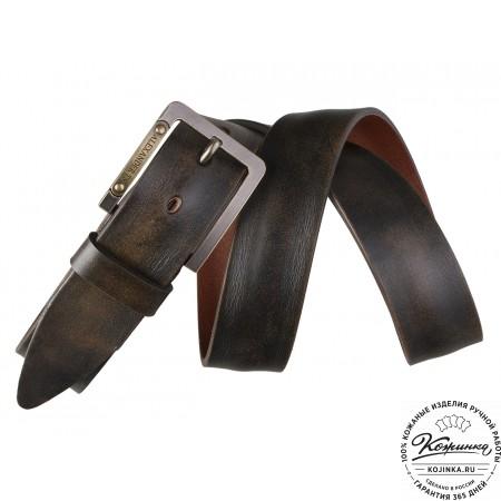 Кожаный ремень AT40-106 (коричневый)