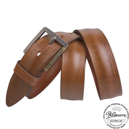 Кожаный ремень AT40-110 (коричневый)