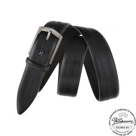 Кожаный ремень SPR35-51 (чёрный)