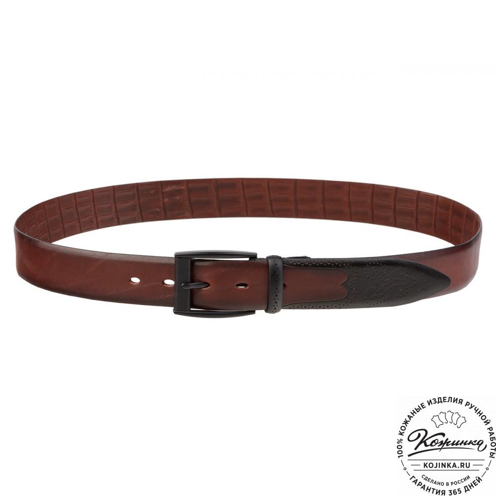 Кожаный ремень SPR35-65 (коричневый)
