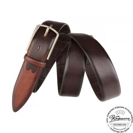 Кожаный ремень SPR35-70 (коричневый)