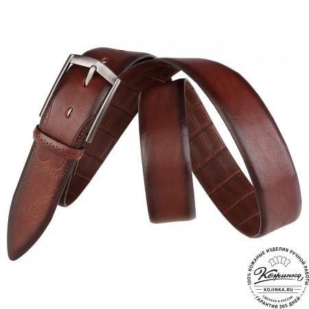 Кожаный ремень SPR35-71 (коричневый)
