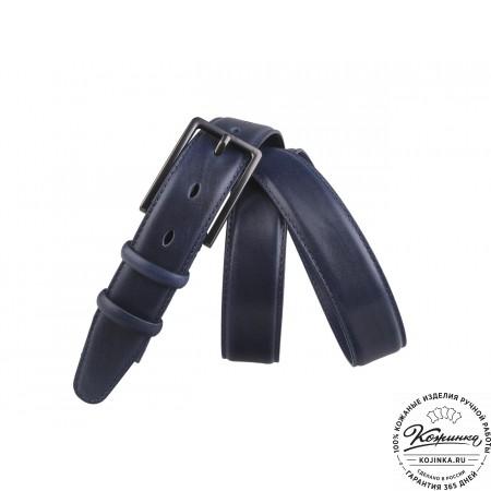 Кожаный ремень AT30-48 (синий)