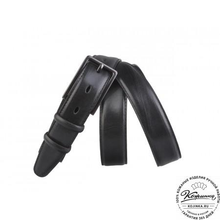 Кожаный ремень AT30-49 (чёрный)