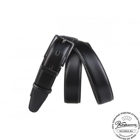 Кожаный ремень DK30-01 (чёрный)