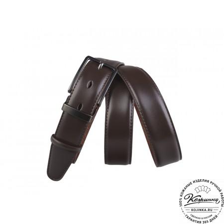 Кожаный ремень DK30-02 (коричневый)