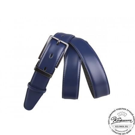 Кожаный ремень DK30-03 (синий)