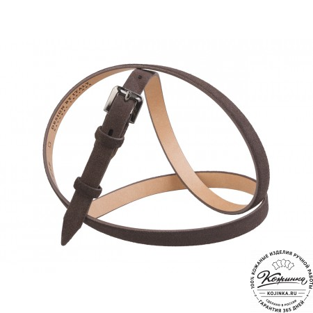 Кожаный ремень Z15-08 (коричневый)