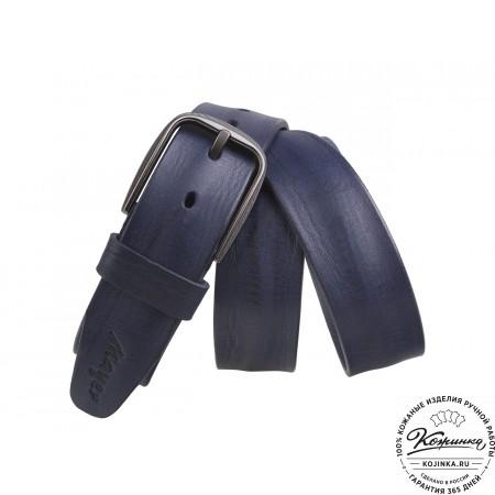 Кожаный ремень B40-916 (синий)
