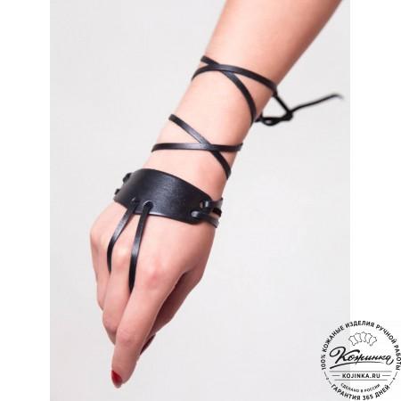 Кожаная перчатка Carpi