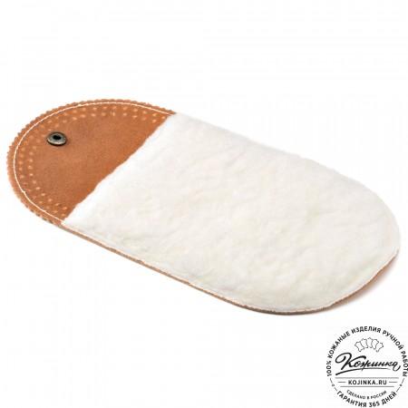 Шерстяная салфетка для чистки и полировки кожи