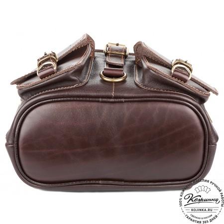 """Кожаный рюкзак """"Пилот"""" (темно-коричневый) - 8"""