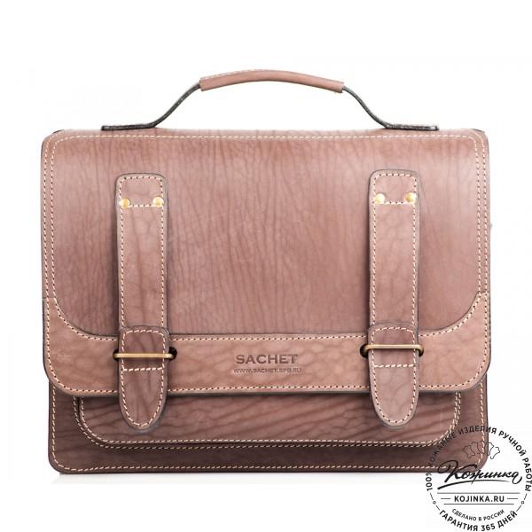 """Кожаный портфель """"Француз"""" (коричневый). фото 1"""