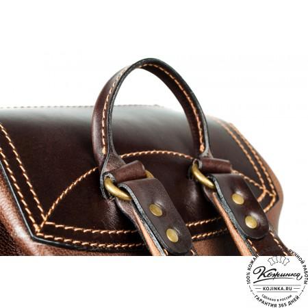 """Кожаный рюкзак """"Стиль 2"""" (коричневый) - 8"""