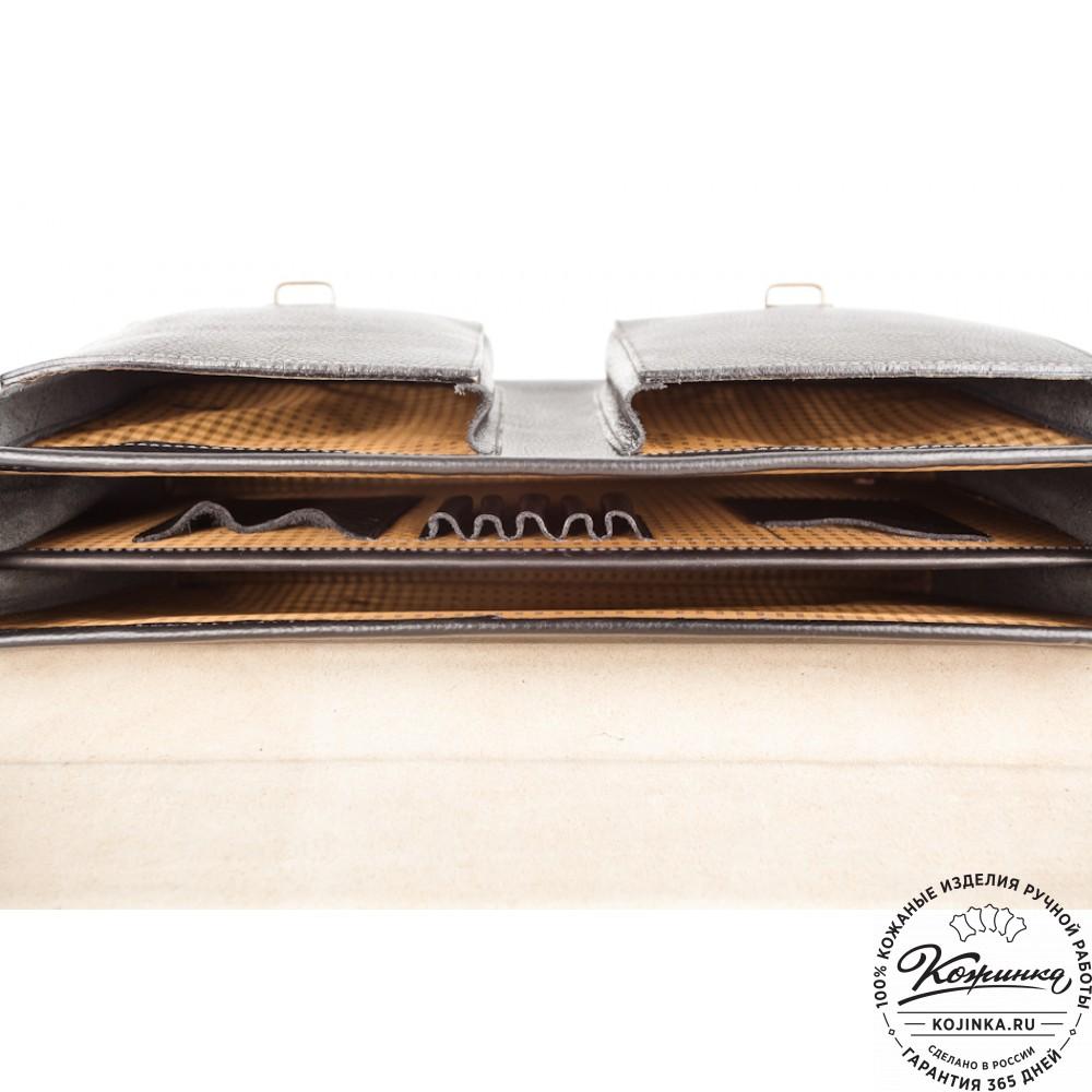 """Кожаный портфель ручной работы """"Рональд II"""" (коричневый)"""