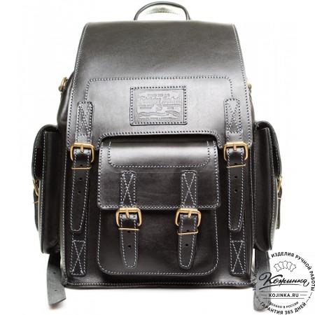 """Кожаный рюкзак """"Кэмэл"""" (чёрный) - 7"""