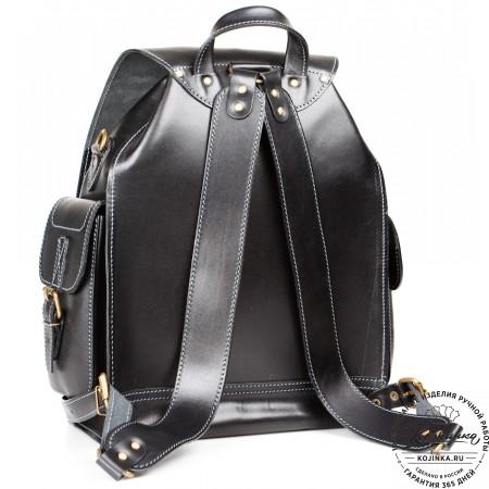 """Кожаный рюкзак """"Кэмэл"""" (чёрный) - 3d модель"""