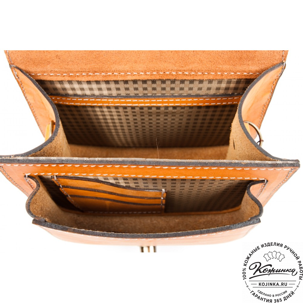 """Кожаная сумка ручной работы """"Джульетта II"""" Версия-2 (желтая)"""