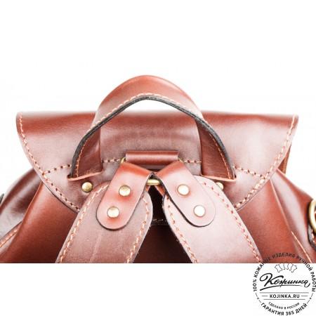 """Кожаный рюкзак """"Кэмэл"""" (коричневый) - 4"""