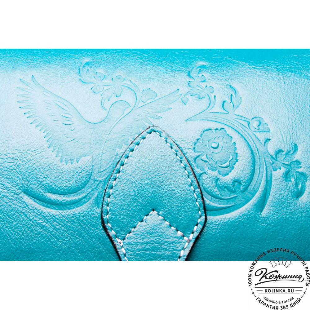 Рюкзак кожаный «Морская волна»