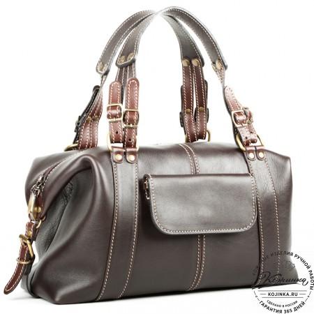 """Женская кожаная сумка """"Эколь"""" (коричневая)"""