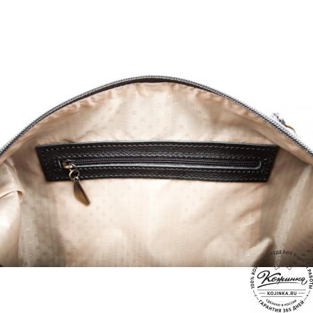 """Женская кожаная сумка """"Эколь"""" (черная)"""