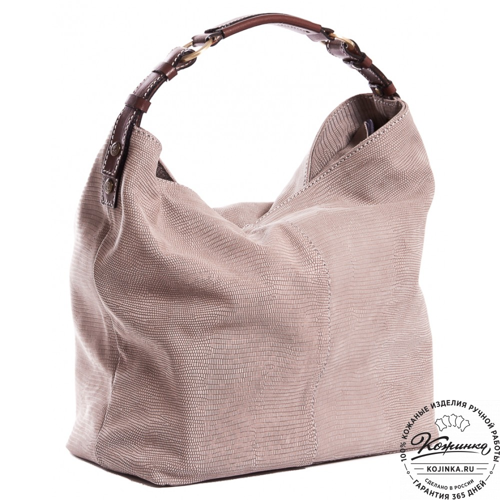 """Женская кожаная сумка """"Торба"""" (серая)"""