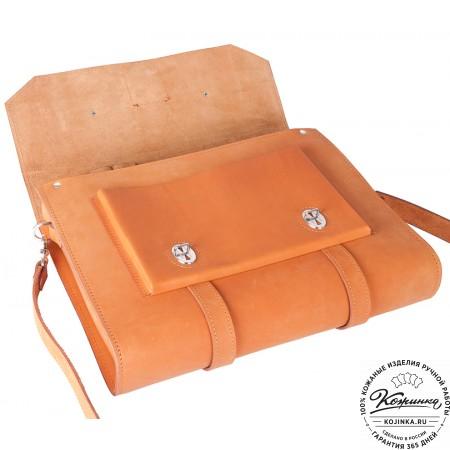 """Кожаный портфель """"Гордон"""" (рыжий)"""
