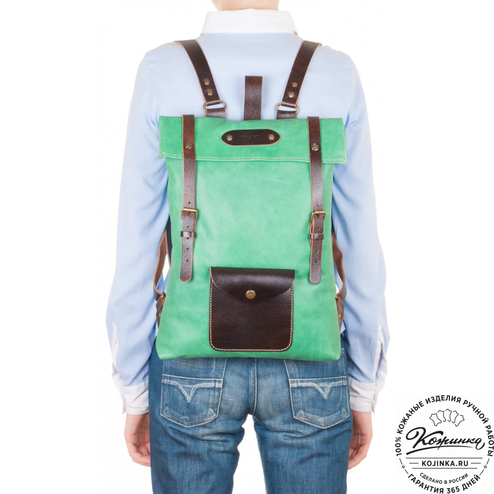 """Кожаный рюкзак """"Vogue"""" (мятный)"""