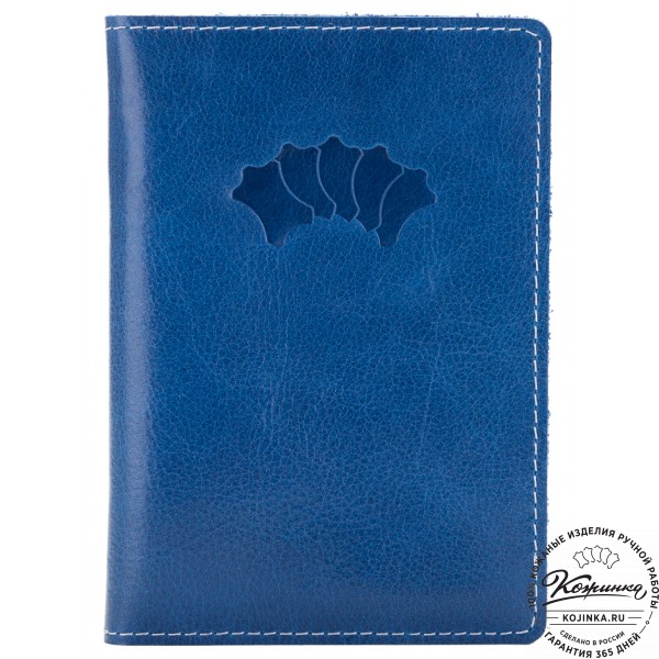 Кожаный бумажник водителя Турин (синий). фото 1