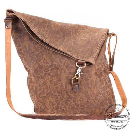 """Кожаная сумка """"Верона"""" (коричневая)"""