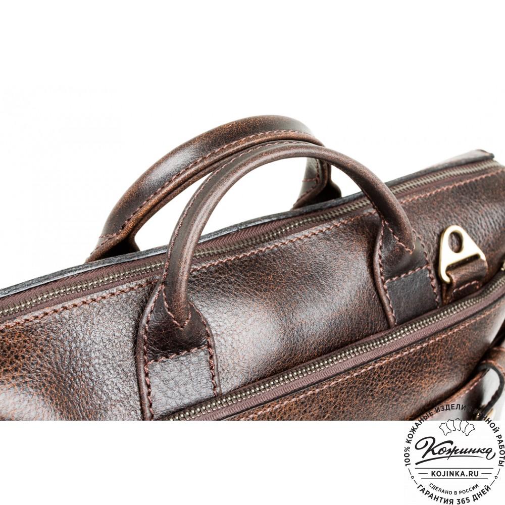 """Кожаная деловая сумка """"Гранд"""" (эксклюзив)"""