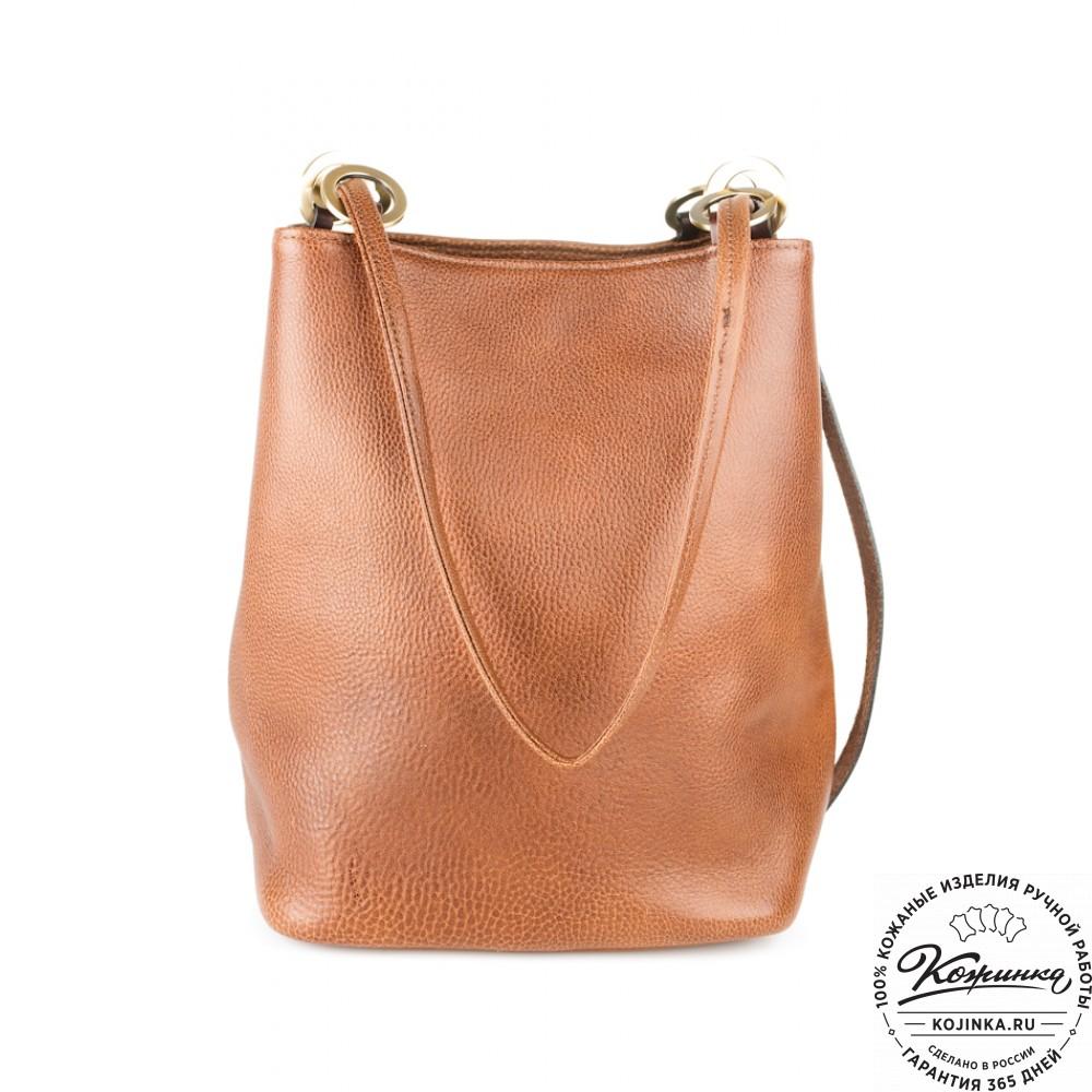 Кожаная женская сумка сумкин