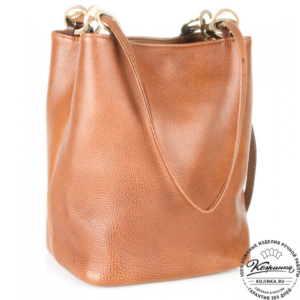 Коричневая кожаная сумка-тоут Chlo купить за 110700 руб в