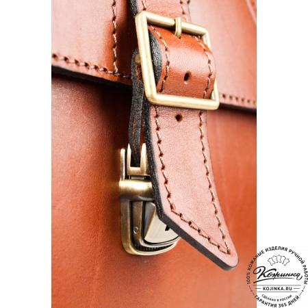 """Кожаный портфель ручной работы """"Академик"""" (светло-рыжий)"""