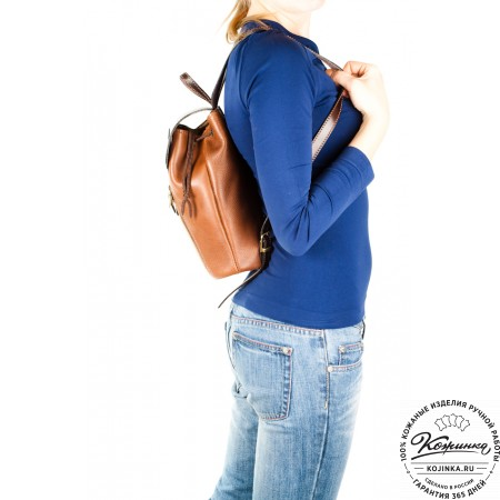 """Женский кожаный рюкзак """"Жоли"""" - 11"""