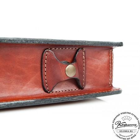 """Кожаный портфель-папка ручной работы """"Оберон"""" (тёмно-рыжий) - 5"""