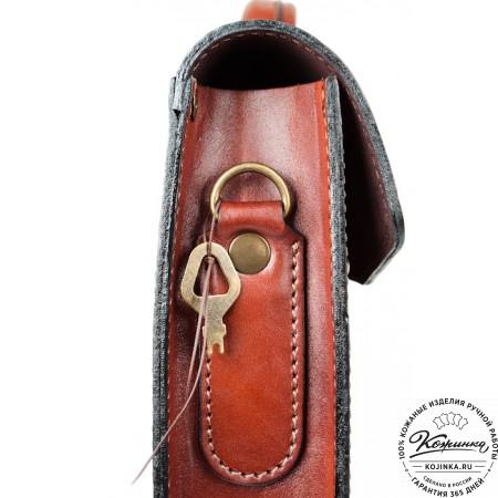 """Кожаный портфель-папка ручной работы """"Оберон"""" (тёмно-рыжий) - 6"""