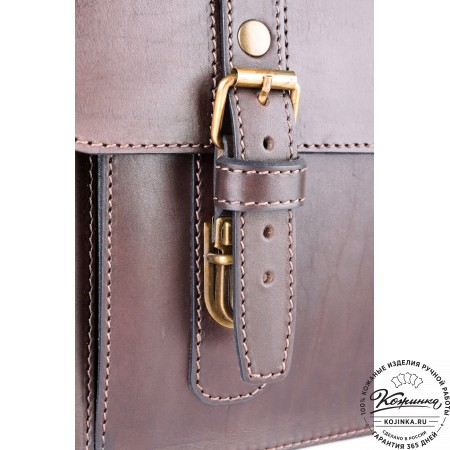 """Кожаный портфель ручной работы """"Пегас"""" (тёмно коричневый) - 16"""
