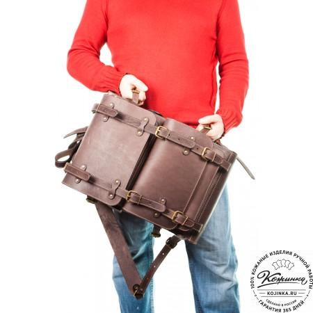 """Мужской кожаный рюкзак """"Легион"""" (коричневый) - 11"""