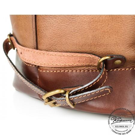 """Кожаный рюкзак """"СаШе"""" (Коричневый) - 12"""