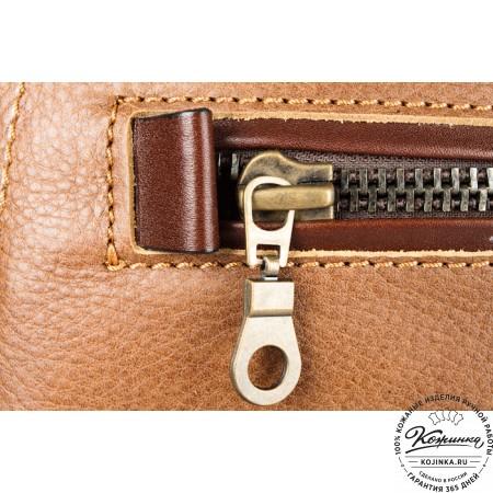 """Кожаный рюкзак """"СаШе"""" (Коричневый) - 4"""