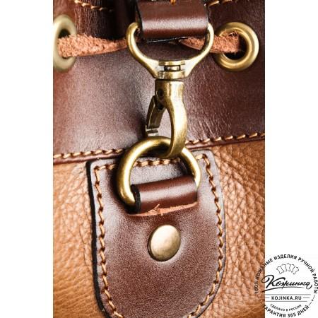 """Кожаный рюкзак """"СаШе"""" (Коричневый) - 5"""