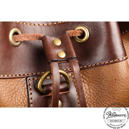 """Кожаный рюкзак """"СаШе"""" (Коричневый) - 6"""