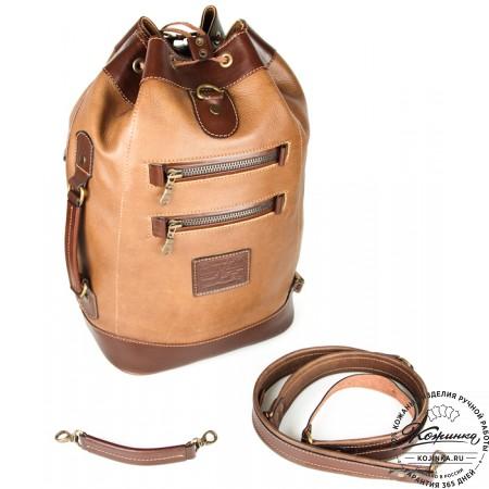"""Кожаный рюкзак """"СаШе"""" (Коричневый) - 9"""