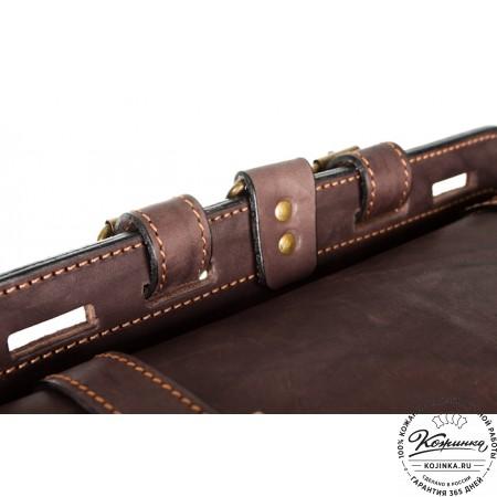 """Мужской кожаный рюкзак """"Легион"""" (коричневый) - 22"""